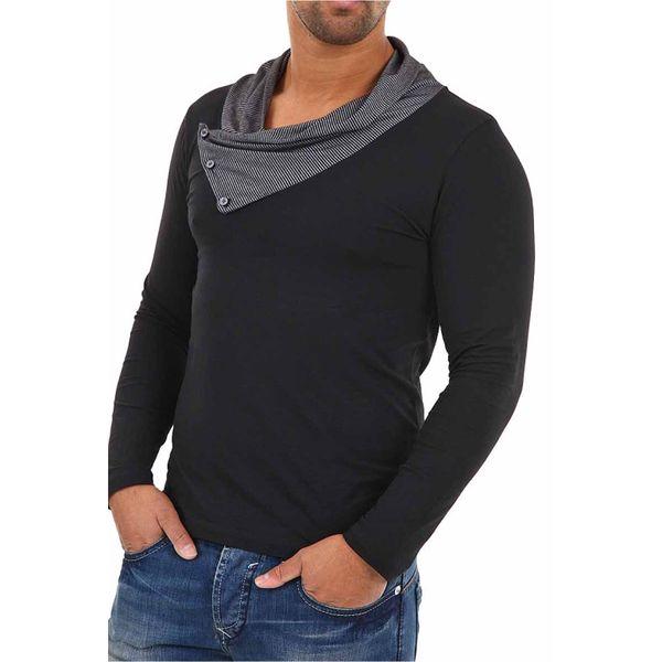 Pánské triko Baxmen černé s límcem