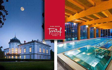 Dokonalý víkend s partnerom vo vysnenej atmosfére Park Hotela Tartuf ***. Pobyt s raňajkami, relaxom v bazéne, vírivke, saune, s masážou, fitness centrom a romantickou večerou pri sviečkach za 169 € po 50% zľave.