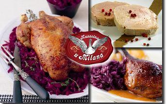 KAČACIE HODY pre 4 osoby alebo HUSACIA PEČIENKA pre 1-2 osoby so zľavou do 65% v reštaurácii U Milana v Slovenskom Grobe! Predĺžená platnosť CityKupónu do 30. 4. 2013!