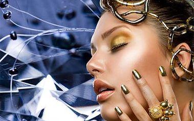 Luxusní kosmetická péče 4v1 s diamantovou dermabrazí, čistící maskou, ampulí s placentou a sérem.
