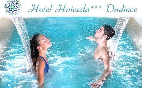 3 alebo 5-dňový pobyt s polpenziou, masážami, saunou, vírivkou a neobmedzeným vstupom do bazéna v hoteli Hviezda*** v kúpeľnom meste Dudince so zľavou do 53%!