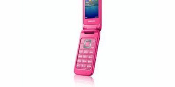 Stylový véčkový telefon Samsung C3520. MicroUSB. Bluetooth a 3.5 mm audio jack.