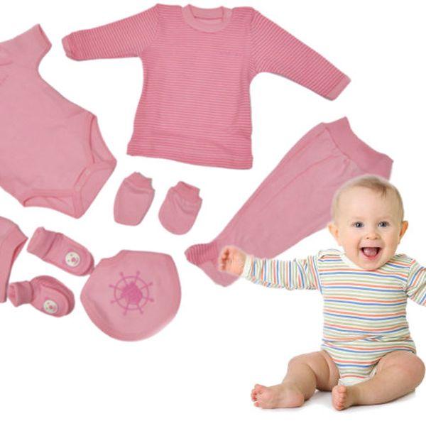 Dětská sedmidílná sada - růžová