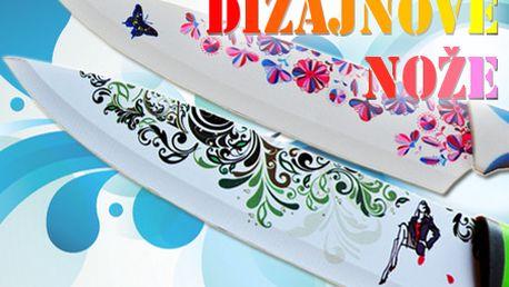 5-dielna sada dizajnových nožov s nepriľnavým povrchom v troch farebných prevedeniach! Unikátne farebne ladené nože so vzorom nesmú chýbať vo vašej kuchyni!