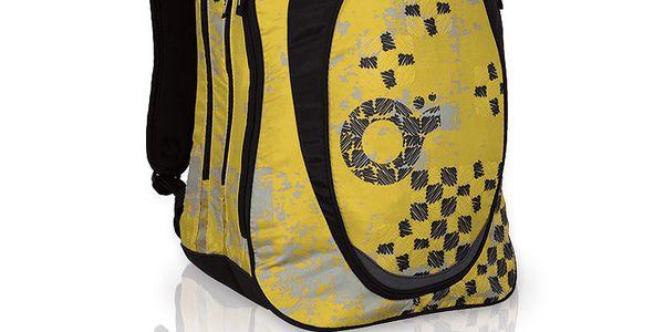Novinka! Prostorný dvoukomorový batoh s trendy potiskem. Skvělá ergonomie zad.