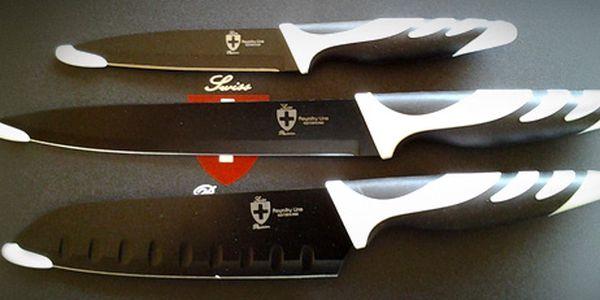 Sada tří nožů s antibakteriálním povrchem, zabaleno v dárkové krabičce