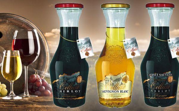 12 moldavských vín v originálních karafách