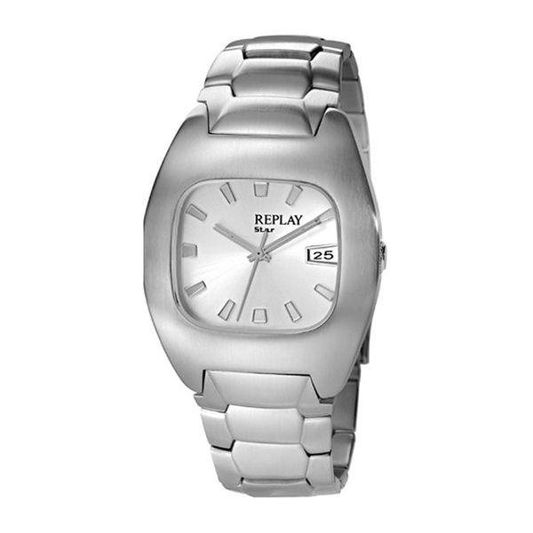 Pánské hodinky Replay stříbrné