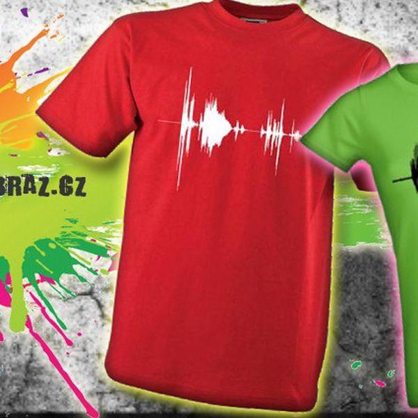 Originální tričko z BIO bavlny s grafickým potiskem záznamu hlasu řekne vše za vás.
