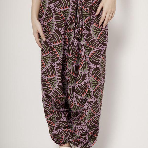Růžové harémové kalhoty Mahal