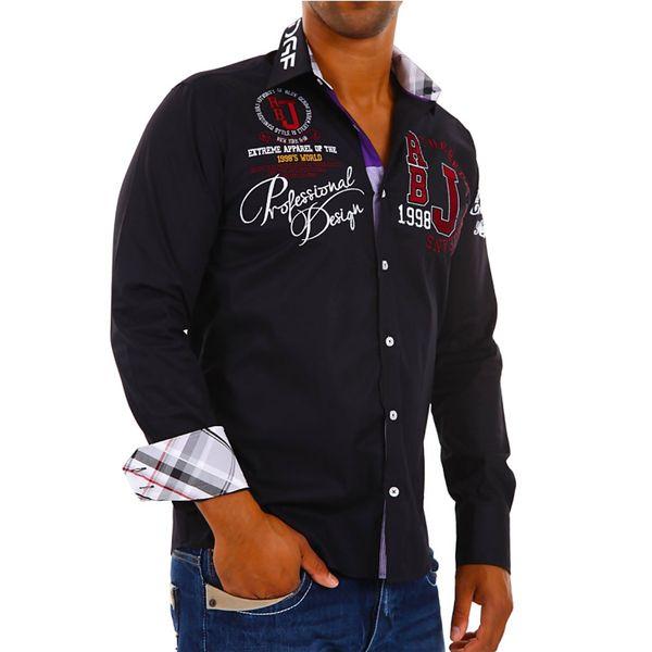 Pánská košile Redbridge černá s potiskem