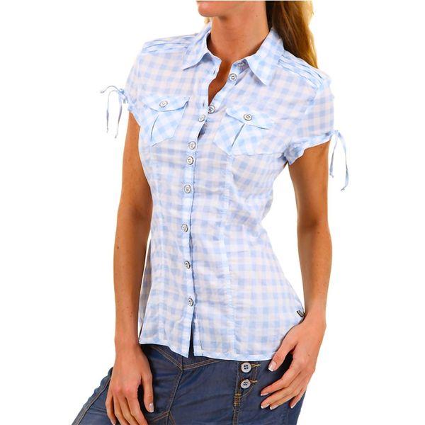 Dámská košile M.O.D. modro-bílá kostkovaná