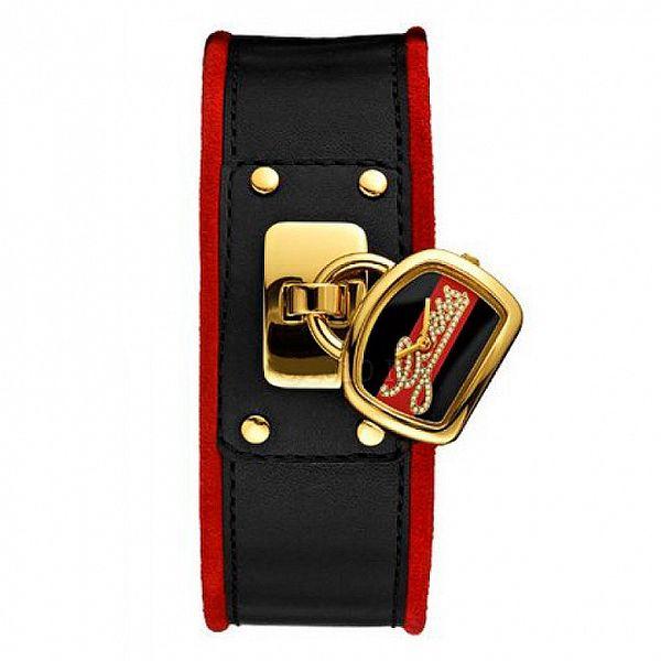 Dámské červenočerné hodinky Guess