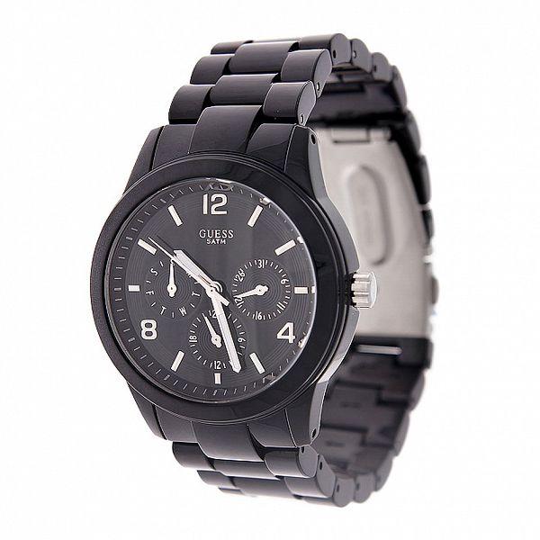 Dámské černé náramkové hodinky Guess