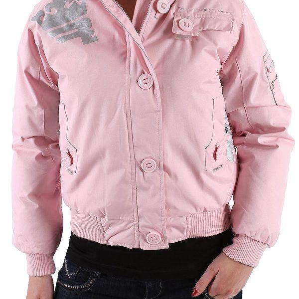 Dámská zimní bunda Rivaldi. Něžná růžová barva, dokonalá funkčnost a praktická kapuce s kožíškem.