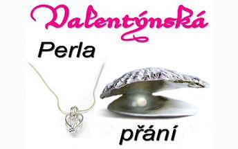 Perla přání je fantastický dárek pro všechny zamilované. Potěšte svou lásku ke sv. Valentýnu pravou perlou v pravé lastuře, řetízkem a klíčkem, kterým perlu z lastury vyjmete!
