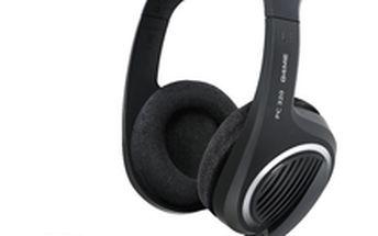 Značkový headset Sennheiser PC 320 zajišťující zvuk perfektní kvality pro hraní her a sledování filmů.