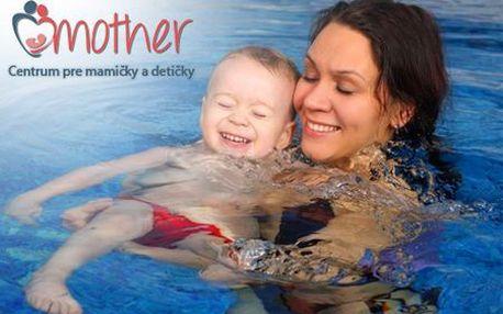 Len 64 € za kurzy plávania mamičiek s bábätkami pre začiatočníkov a mierne pokročilých! Certifikované pomôcky, dohľad inštruktoriek, krásne čisté a hygienické prostredie!