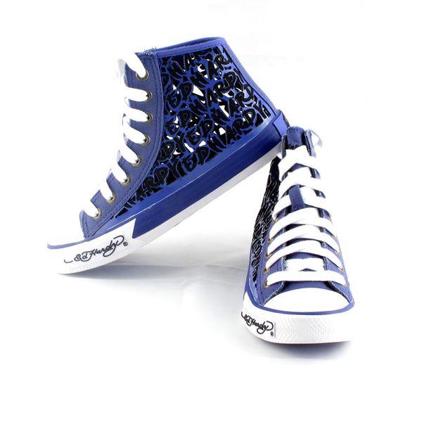 Dámské boty Ed Hardy Resoudre fialovo-černé