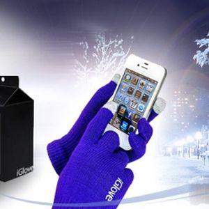 iGloves - rukavice pro dotykové displeje v růžové nebo černé barvě jen za 169 Kč! Nemrzněte již při psaní sms! Pořiďte si iGloves - rukavice se speciálními vodivými vlákny na špičkách prstů! Vhodné pro iPhone, Samsung, HTC a jiné!