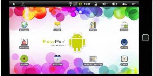 """Tablet EasyPad Junior přizpůsoben potřebám dětí. Veký displej 7"""", 800x480, 16.9, paměť 4GB"""