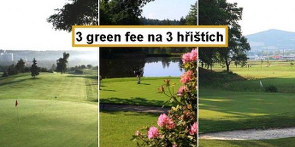 Výhodný balíček 3 green fee na 18 jamek - Kotlina + Motol + Štiřín, skvělý dárek a dokonalý golfový zážitek kdykoliv během sezony 2013!