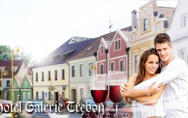TŘI DNY pro dva s POLOPEZNÍ a LAHVÍ VÍNA v Hotelu Třeboň**** za skvělých 2.220 Kč! Navíc sleva na MASÁŽE! Luxusní odpočinek v malebném centru Třeboně se slevou 40%!
