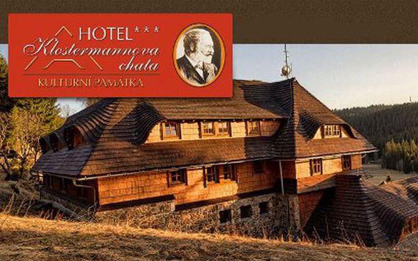 Šumava na 3 dny pro DVA jen za 2200 Kč! Kulturní památka Klostermannova chata!
