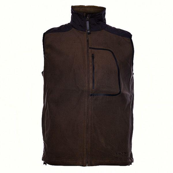 Pánská tmavě hnědá fleecová vesta Northland
