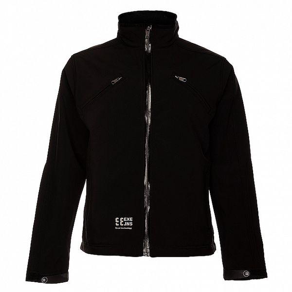 Pánská černá softshellová bunda Exe