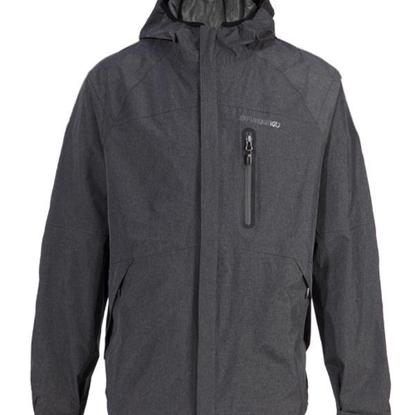 Pánská tmavě šedá bunda Fundango s membránou