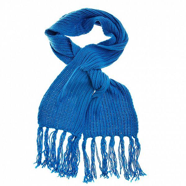 Dámská modrá pletená šála Loap