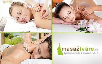 Klasická masáž chrbta a šije alebo kozmetická lymfodrenáž tváre v kombinácii s klasickou masážou chrbta so zľavou 55%! Načerpajte nové sily a odstráňte nepríjemnú bolesť!