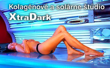 Kolagénové a solárne štúdio XtraDark ponúka permanentky za POLOVIČNÉ ceny! 30-minút už za 6,90 €! Nové najmodernejšie kolagénové a solárne štúdio v BB!