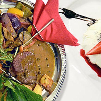 Valentýnské menu pro dva v restauraci U Patrona
