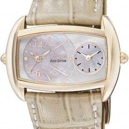 Dámské luxusní společenské hodinky CITIZEN Strap. Revoluční strojek Eco Drive.
