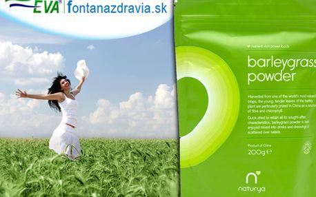 100% BIO certifikovaný sušený prášok z mladých zelených výhonkov jačmeňa len za 17,99 €! Pripravte si zdravý nápoj plný vitamínov, minerálov, enzýmov a chlorofylu!