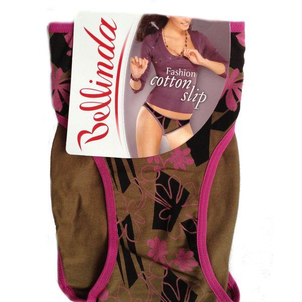 Kalhotky Bellinda Fashion Cotton Slip khaki s obrázkem