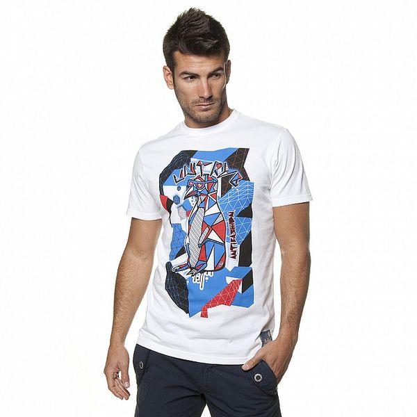Pánské bílé tričko Unitryb s tučňákem