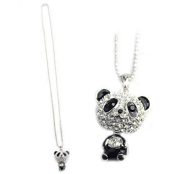 Stříbrný řetízek s originálním přívěskem s motivem pandy a poštovné ZDARMA! - 45