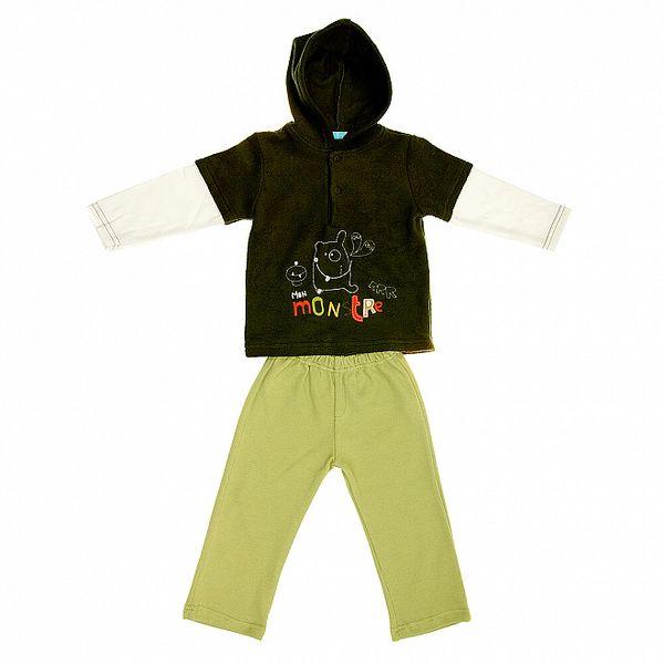 Dětská zelená souprava Lullaby - tepláčky a mikinka