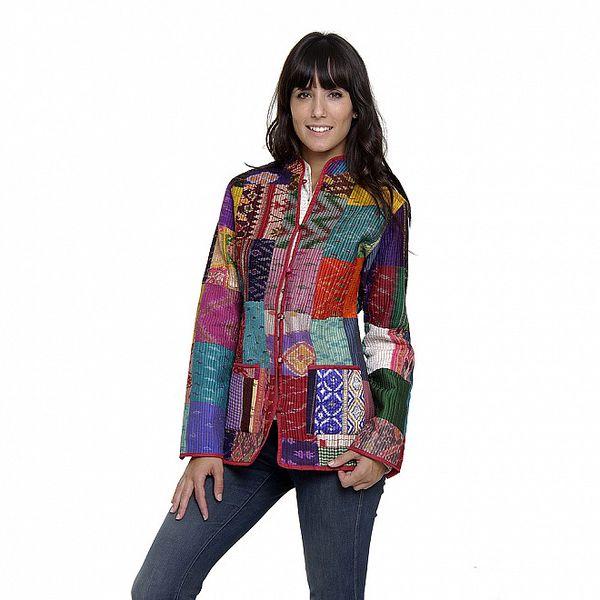 Barevný propínací kabátek Peace&Love