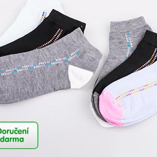 9 párů dámských ponožek – doručení zdarma