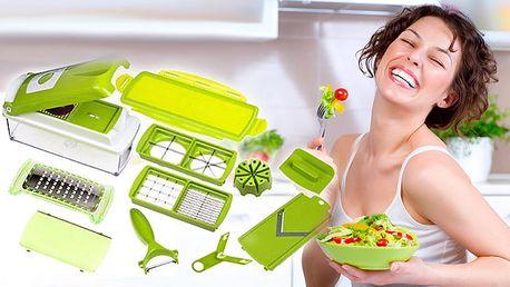 Kuchynský krájač, ktorý obsahuje všetko, čo potrebujete na prípravu akéhokoľvek jedla. Praktický pomocník len za 21,99 € po 51% zľave.