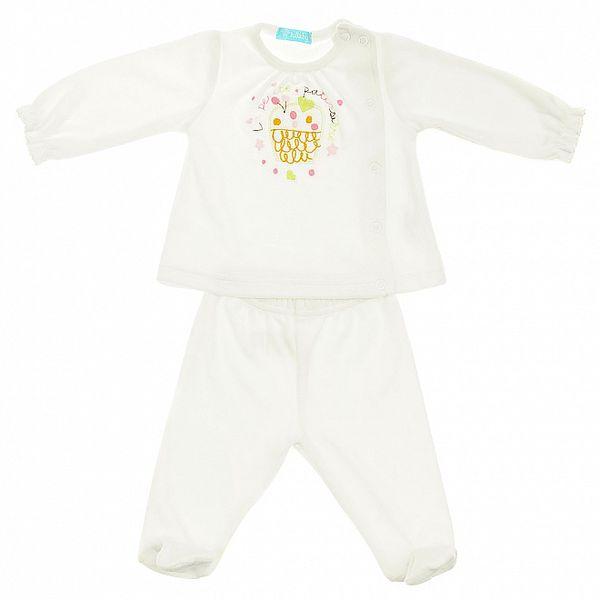 Detská biela súprava Lullaby - mikinka a polodupačkami