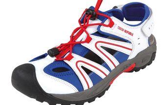 Sandály Alpine Pro bílo-modro-červené