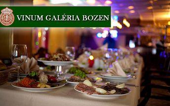 All you can eat v reštaurácii Vinum Galéria Bozen len za 21,55€. Jedlá z rôznych druhov mäsa a rýb, výrobky z vlastnej mäsiarne a veľký výber čerstvých šalátov a dressingov so zľavou 42%.