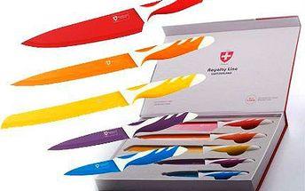 Sada pěti švýcarských barevných nožů!