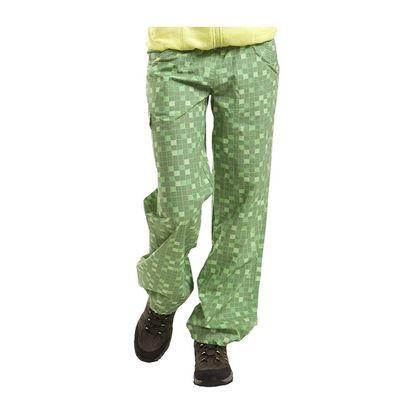 Dámské sportovní kalhoty Alpine Pro zelené kostkovaný vzor