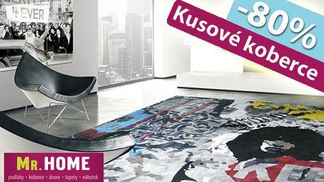Zľava 80% na akýkoľvek kusový koberec z ponuky predajne alebo e-shopu Mr. Home. Len 3,90 € za kupón na výber zo širokej ponuky za pätinovú cenu.